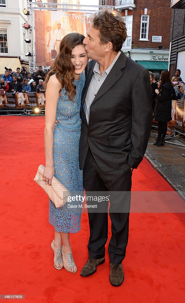 Daisy Bevan and father Tim Bevan attend the UK Premiere of 'The Two Faces Of January' at The Curzon Mayfair on May 13 2014 in London England
