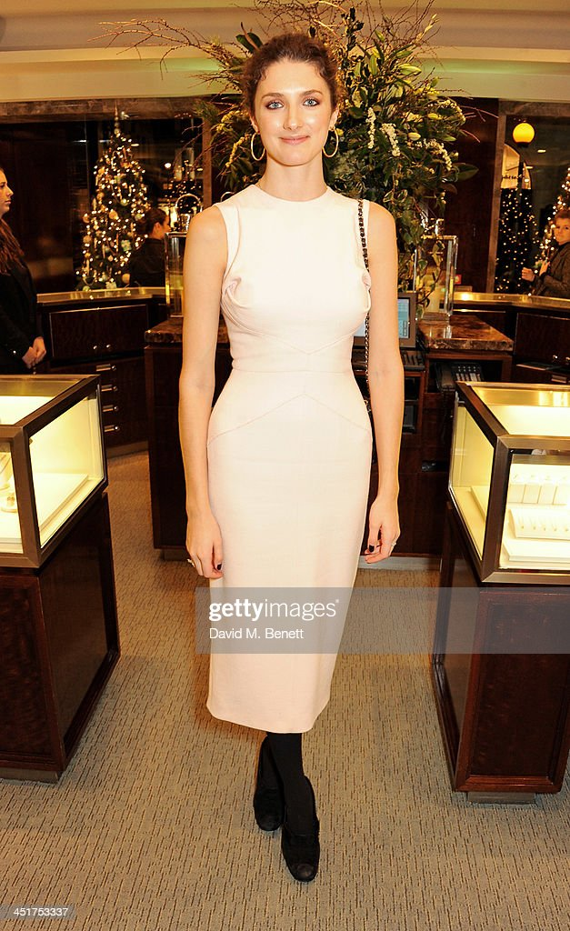 Daisy Bevan attends as Joely Richardson officially opens the Tiffany & Co. Christmas Shop on Bond Street, London on November 24, 2013 in London, England.