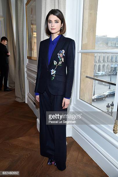 Daisy Bevan attends the Schiaparelli Haute Couture Spring Summer 2017 show as part of Paris Fashion Week on January 23 2017 in Paris France