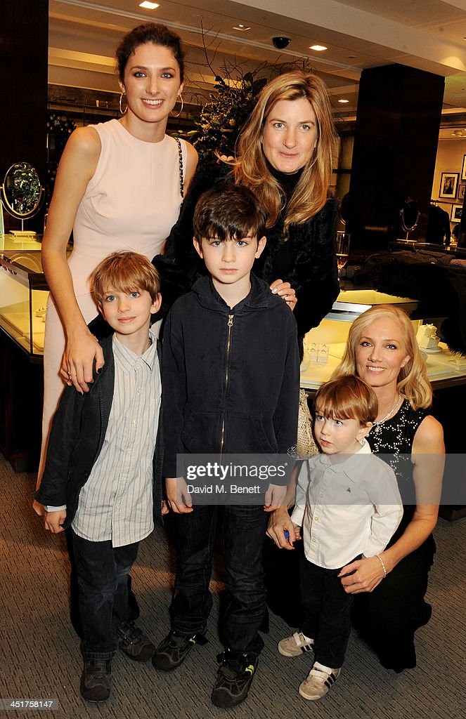 Daisy Bevan Catherine Hess and Joely Richardson attend as Joely Richardson officially opens the Tiffany Co Christmas Shop on Bond Street London on...