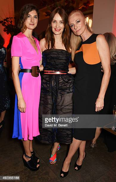 Daisy Bevan Roksanda Ilincic and Joely Richardson attend the Red Women of the Year awards at Skylon Grill Royal Festival Hall on October 12 2015 in...