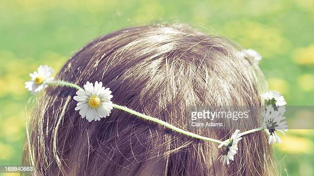daisy chain in hair