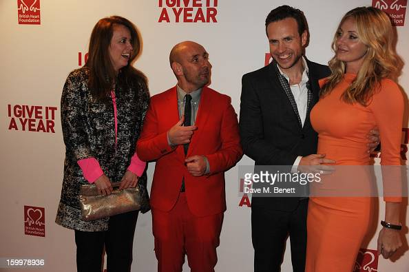 Daisy Donovan Director Dan Mazer Elize Du Toit and Rafe Spall attend the European Premiere of 'I Give It A Year' at Vue West End on January 24 2013...