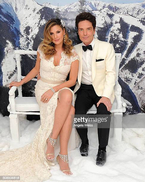 Daisy Fuentes and Richard Marx attend a Martin Katz designed event celebrating their wedding in the hotel's 'Penthouse Inspired by Vivienne Westwood'...