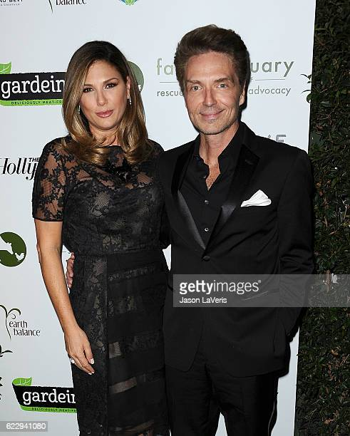 Daisy Fuentes and Richard Marx attend Farm Sanctuary's 30th anniversary gala at the Beverly Wilshire Four Seasons Hotel on November 12 2016 in...
