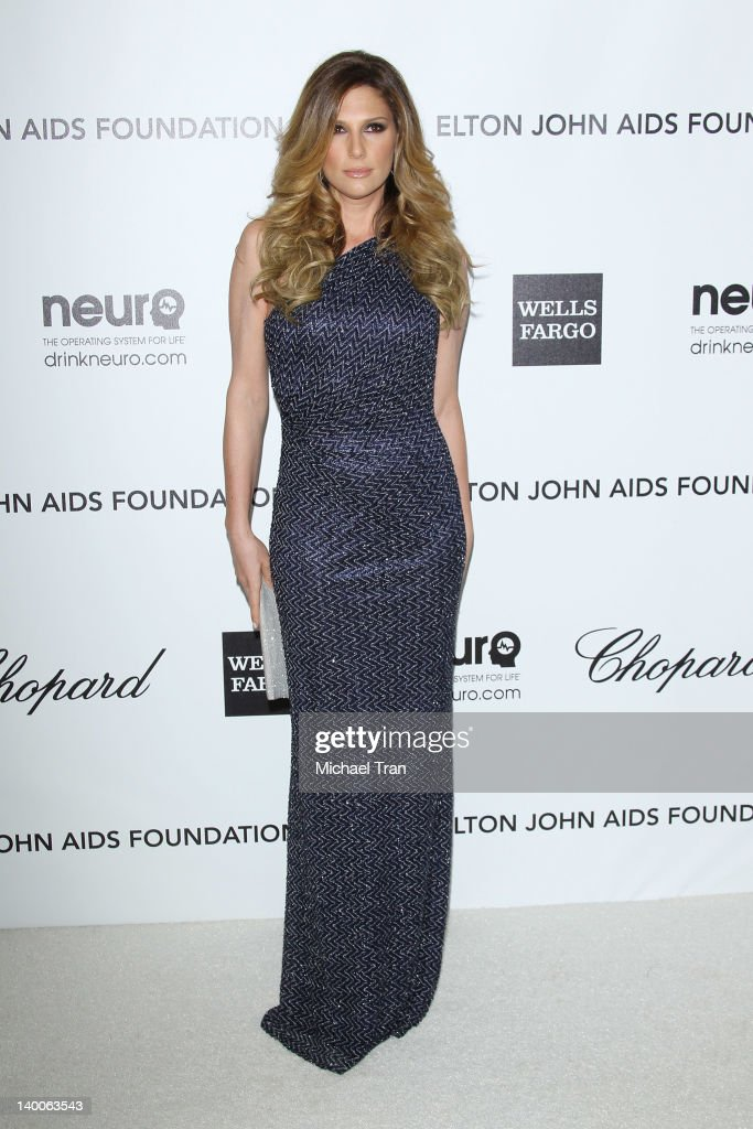 Daisy Fuentes arrives at the 20th Annual Elton John AIDS Foundation Academy Awards viewing party held across the street from the Pacific Design Center on February 26, 2012 in West Hollywood, California.