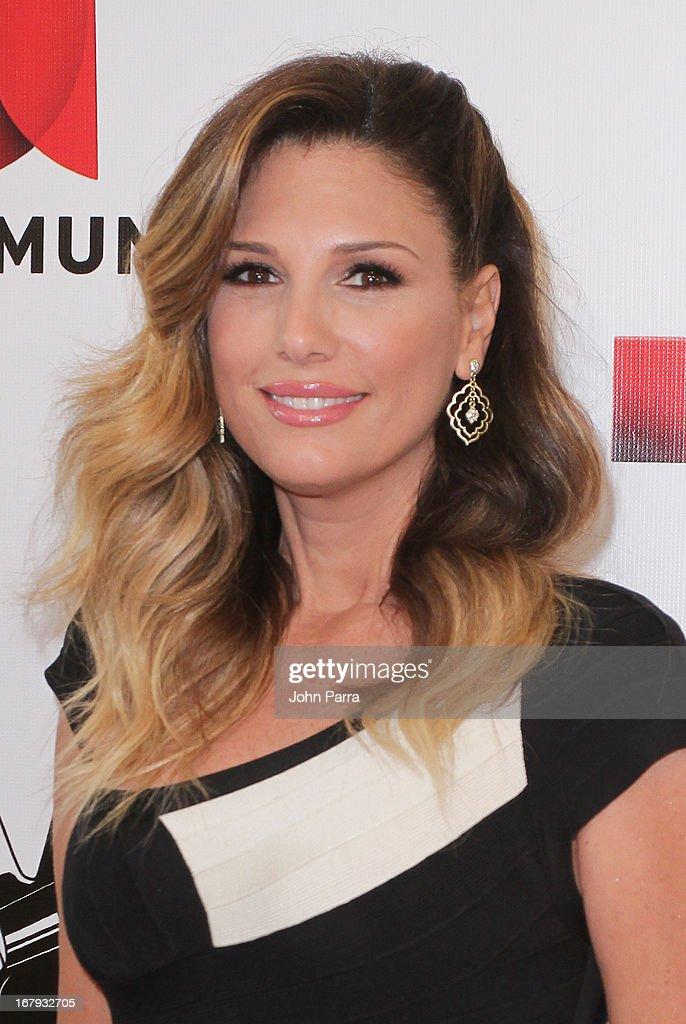 Daisy Fuentes attends a press conference for Telemundo's 'La Voz Kids' on May 2, 2013 in Miami, Florida.