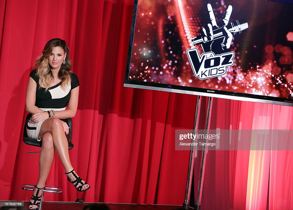 <a gi-track='captionPersonalityLinkClicked' href=/galleries/search?phrase=Daisy+Fuentes&family=editorial&specificpeople=201611 ng-click='$event.stopPropagation()'>Daisy Fuentes</a> attends a press conference for Telemundo's 'La Voz Kids' on May 2, 2013 in Miami, Florida.