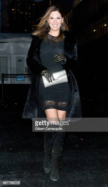 Daisy Fuentes attends Fall 2014 Mercedes Benz Fashion Week on February 7 2014 in New York City
