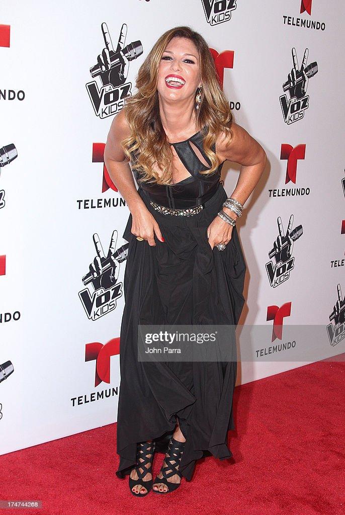 Daisy Fuentes attends Telemundo's 'La Voz Kids Finale on July 27, 2013 in Miami, Florida.
