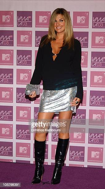 Daisy Fuentes during MTV Video Music Awards Latin America 2003 Press Room at Jackie Gleason Theater in Miami Beach Florida United States