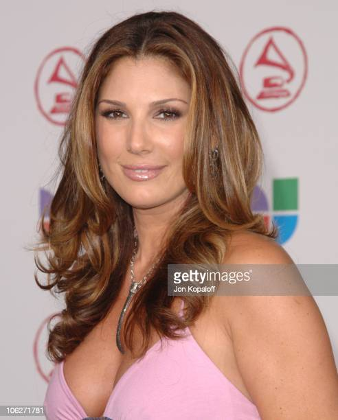 Daisy Fuentes during The 6th Annual Latin GRAMMY Awards Arrivals at Shrine Auditorium in Los Angeles California United States