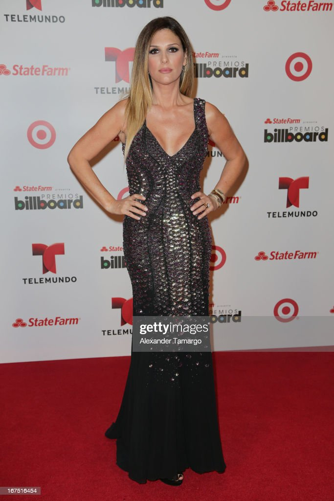 Daisy Fuentes poses backstage at Billboard Latin Music Awards 2013 at Bank United Center on April 25, 2013 in Miami, Florida.