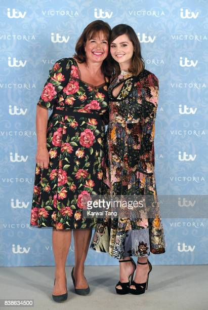 Daisy Goodwin and Jenna Coleman attend the 'Victoria' Season 2 press screening at the Ham Yard Hotel on August 24 2017 in London England