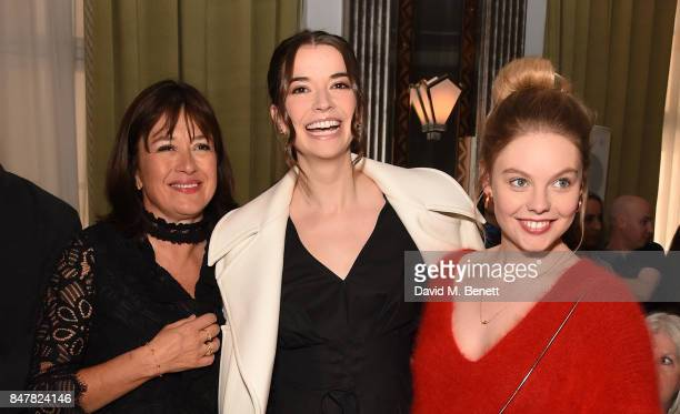 Daisy Goodwin Margaret Clooney and Nell Hudson attend the Jasper Conran SS18 catwalk show during London Fashion Week September 2017 on September 16...