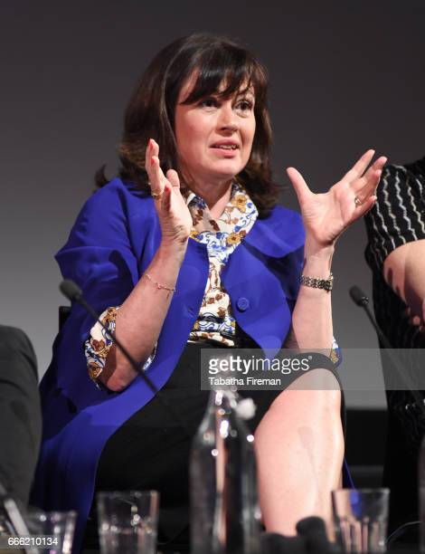 Daisy Goodwin speaks onstage during the panel discussion 'The Unlacing of Victoria' at the BFI Radio Times TV Festival at the BFI Southbank on April...