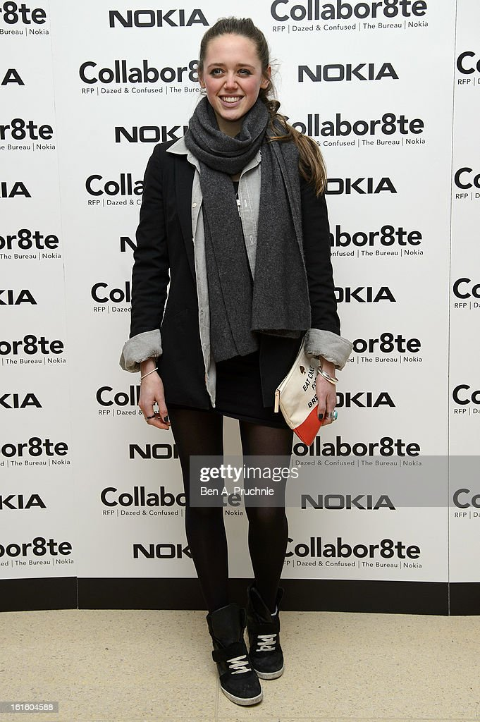 Daisy Head attends the premiere of Rankin's Collabor8te connected by NOKIA at Regent Street Cinema on February 12, 2013 in London, England.