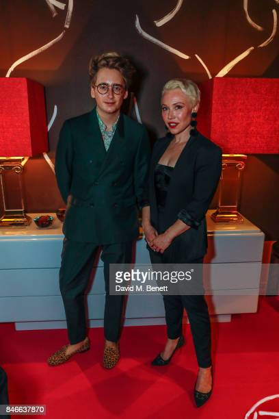 Daisy Lewis and Luke Edward Hall attend the 'Designed At Talisman' designer exhibition during the London Design Festival 2017 at Talisman New Kings...