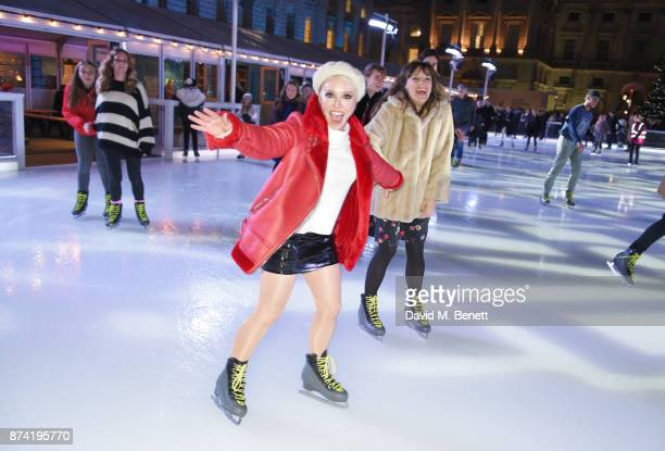 Daisy Lewis and Vikki Stone attend the opening party of Skate at Somerset House with Fortnum Mason on November 14 2017 in London England London's...