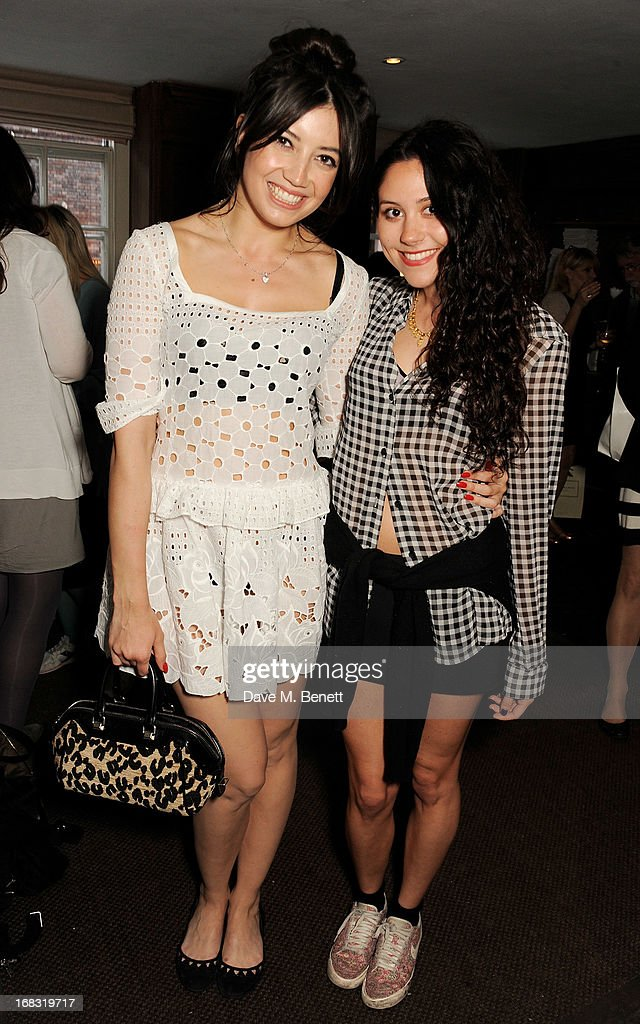 Daisy Lowe (L) and Eliza Doolittle attend a book launch party for 'Pearl Lowe's Vintage Craft: 50 Craft Projects and Home Styling Advice' by Pearl Lowe at Soho House on May 8, 2013 in London, England.