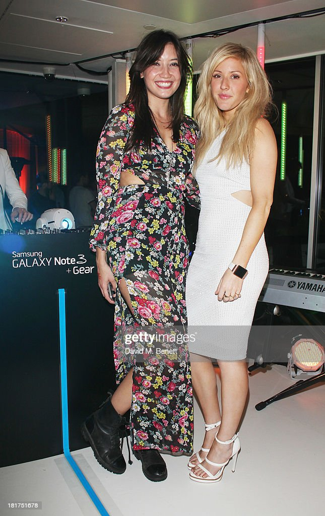 <a gi-track='captionPersonalityLinkClicked' href=/galleries/search?phrase=Daisy+Lowe&family=editorial&specificpeople=787647 ng-click='$event.stopPropagation()'>Daisy Lowe</a> and <a gi-track='captionPersonalityLinkClicked' href=/galleries/search?phrase=Ellie+Goulding&family=editorial&specificpeople=6389309 ng-click='$event.stopPropagation()'>Ellie Goulding</a> attend the Samsung Galaxy Gear and Note 3 launch event at the Radio Rooftop Bar, Hotel Me London on September 24, 2013 in London, England.