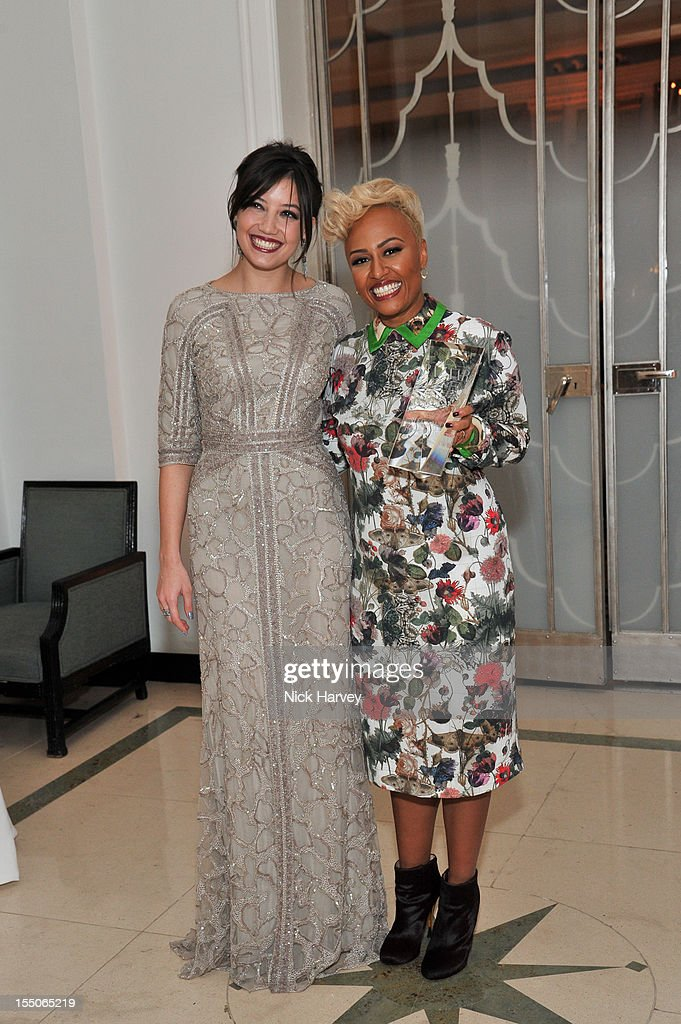 Daisy Lowe and Emeli Sande attend the Harper's Bazaar Woman of the Year Awards at Claridge's Hotel on October 31, 2012 in London, England.