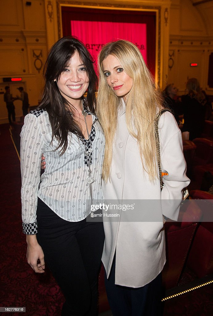 <a gi-track='captionPersonalityLinkClicked' href=/galleries/search?phrase=Daisy+Lowe&family=editorial&specificpeople=787647 ng-click='$event.stopPropagation()'>Daisy Lowe</a> and <a gi-track='captionPersonalityLinkClicked' href=/galleries/search?phrase=Laura+Bailey+-+Model&family=editorial&specificpeople=202040 ng-click='$event.stopPropagation()'>Laura Bailey</a> and Richard Curtis attend the private screening of Mary & Martha, hosted by Emma Freud at the Electric Cinema on February 26, 2013 in London, England. The film, by Richard Curtis, which airs on BBC1 on Friday 1st March at 8.30pm stars Hilary Swank as Mary and Brenda Blethyn as Martha, an American and and Englishwoman who have little in common apart from the tragedy of losing a son to malaria, that unexpectedly brings them together.