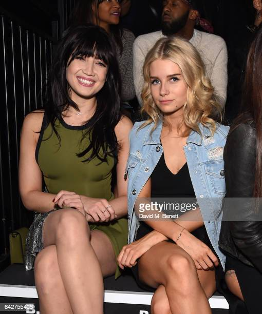 Daisy Lowe and Lottie Moss attend the VERSUS show during the London Fashion Week February 2017 collections on February 18 2017 in London England