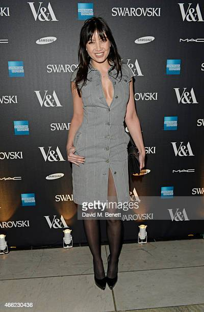 Daisy Lowe arrives at the Alexander McQueen Savage Beauty VIP private view at the Victoria and Albert Museum on March 14 2015 in London England