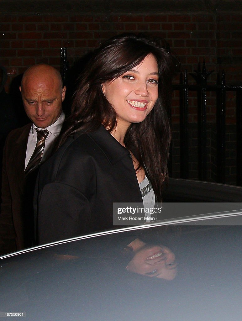 <a gi-track='captionPersonalityLinkClicked' href=/galleries/search?phrase=Daisy+Lowe&family=editorial&specificpeople=787647 ng-click='$event.stopPropagation()'>Daisy Lowe</a> at the Chiltern Firehouse for a Prada event on April 30, 2014 in London, England.