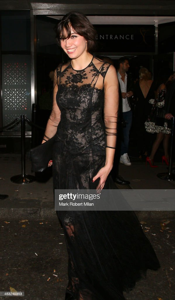 <a gi-track='captionPersonalityLinkClicked' href=/galleries/search?phrase=Daisy+Lowe&family=editorial&specificpeople=787647 ng-click='$event.stopPropagation()'>Daisy Lowe</a> at the Playboy club on December 2, 2013 in London, England.
