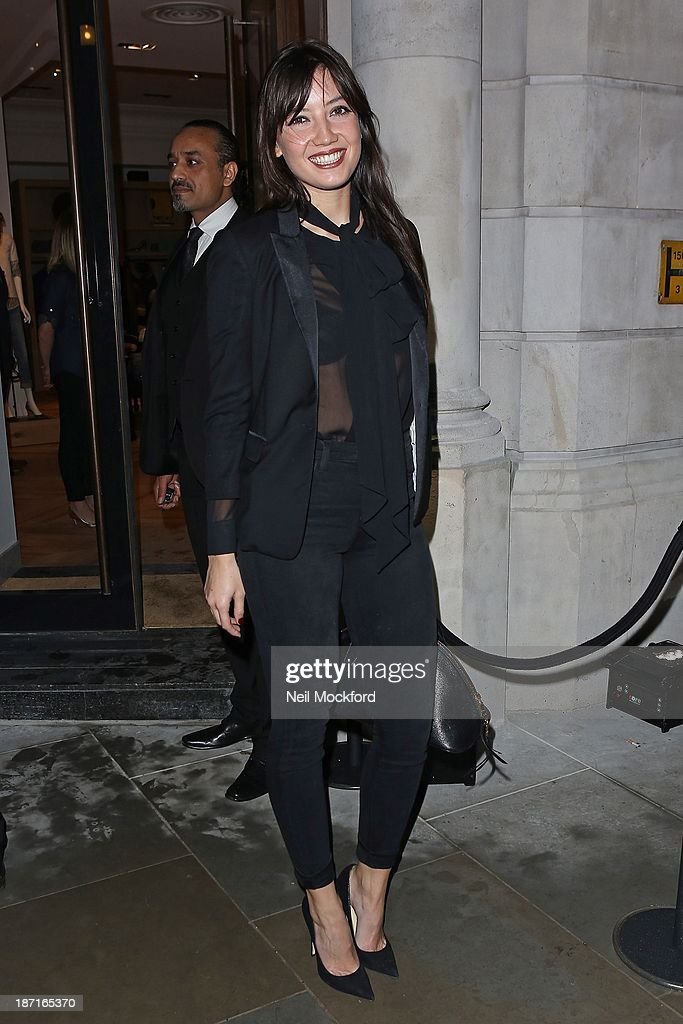 Daisy Lowe at the UK flagship store launch of J. Crew on November 6, 2013 in London, England.