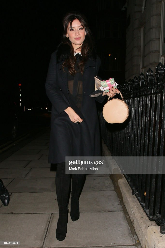 <a gi-track='captionPersonalityLinkClicked' href=/galleries/search?phrase=Daisy+Lowe&family=editorial&specificpeople=787647 ng-click='$event.stopPropagation()'>Daisy Lowe</a> attending Alexa Chung's 30th birthday party at the London Edition Hotel on November 9, 2013 in London, England.