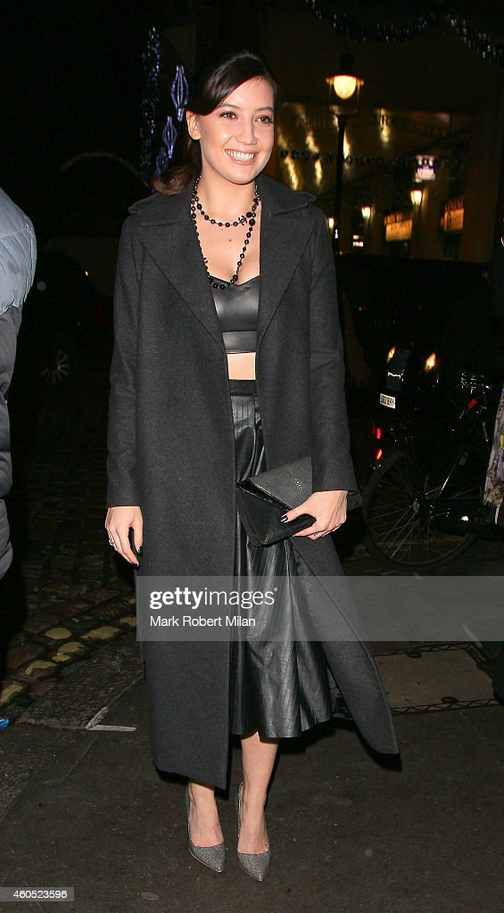Daisy Lowe attending the LOVE x Balmain Chrismas Party at The Ivy Market Grill on December 15 2014 in London England