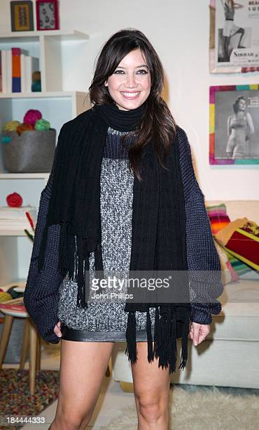 Daisy Lowe attends a photocall to launch the Campaign For Wool's knitting classes for Wool Week at John Lewis Oxford Street Store on October 14 2013...