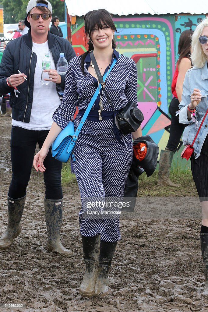 Daisy Lowe attends Day 2 of the Glastonbury Festival 2016 at Worthy Farm, Pilton on June 24, 2016 in Glastonbury, England.