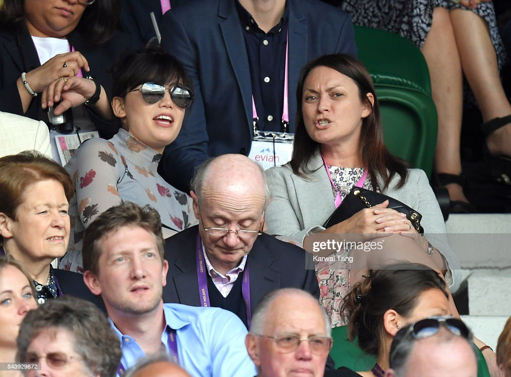 <a gi-track='captionPersonalityLinkClicked' href=/galleries/search?phrase=Daisy+Lowe&family=editorial&specificpeople=787647 ng-click='$event.stopPropagation()'>Daisy Lowe</a> (L) attends day four of the Wimbledon Tennis Championships at Wimbledon on June 30, 2016 in London, England.