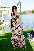 Daisy Lowe attends Harper's BAZAAR Coach private brunch at Soho Desert House on April 11 2015 in La Quinta California