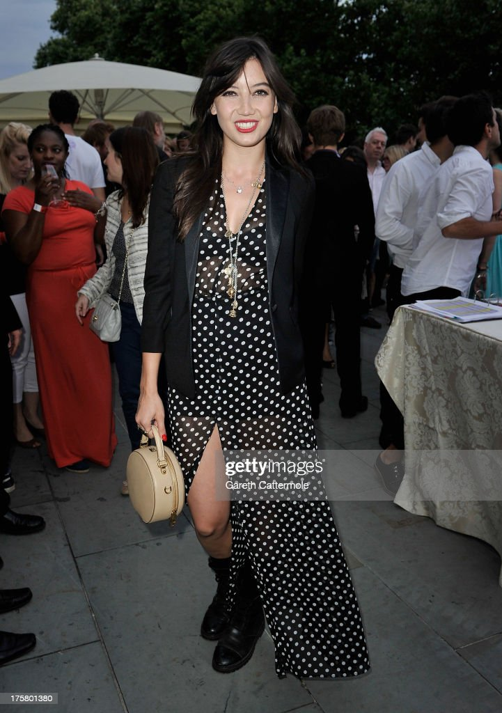 <a gi-track='captionPersonalityLinkClicked' href=/galleries/search?phrase=Daisy+Lowe&family=editorial&specificpeople=787647 ng-click='$event.stopPropagation()'>Daisy Lowe</a> attends the 'About Time' world premiere at Somerset House on August 8, 2013 in London, England.