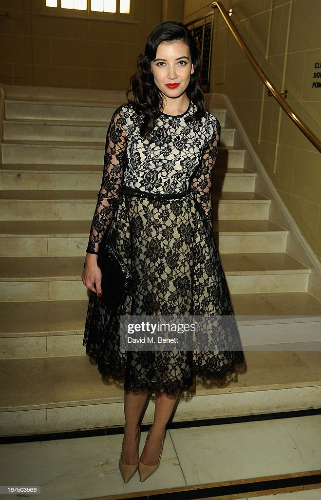 Daisy Lowe attends the Alexandra Shulman and Vogue Dinner in Honour of Michael Kors at the Cafe Royal on April 25, 2013 in London, England.