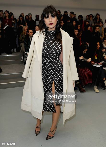 Daisy Lowe attends the Ashley Williams show during London Fashion Week Autumn/Winter 2016/17 at Brewer Street Car Park on February 23 2016 in London...
