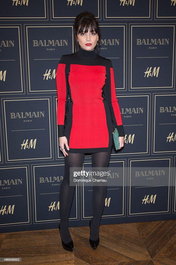 Daisy Lowe attends the BALMAIN x HM Paris Launch Party on November 3 2015 in Paris France