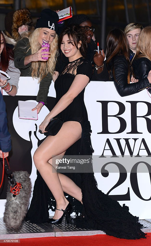<a gi-track='captionPersonalityLinkClicked' href=/galleries/search?phrase=Daisy+Lowe&family=editorial&specificpeople=787647 ng-click='$event.stopPropagation()'>Daisy Lowe</a> attends The BRIT Awards 2014 at 02 Arena on February 19, 2014 in London, England.