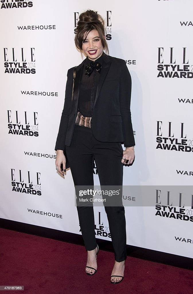 Daisy Lowe attends the Elle Style Awards 2014 at one Embankment on February 18, 2014 in London, England.