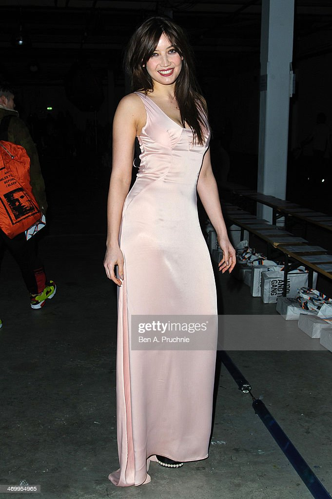Daisy Lowe attends the Giles show at London Fashion Week AW14 at on February 17 2014 in London England