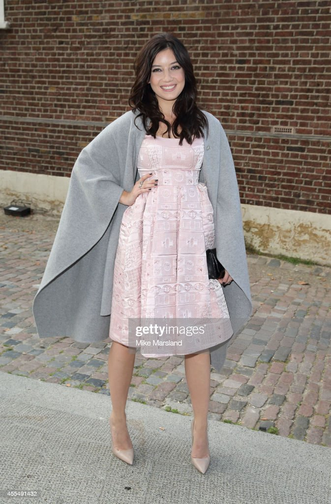 Daisy Lowe attends the GILES show during London Fashion Week Spring Summer 2015 on September 15 2014 in London England