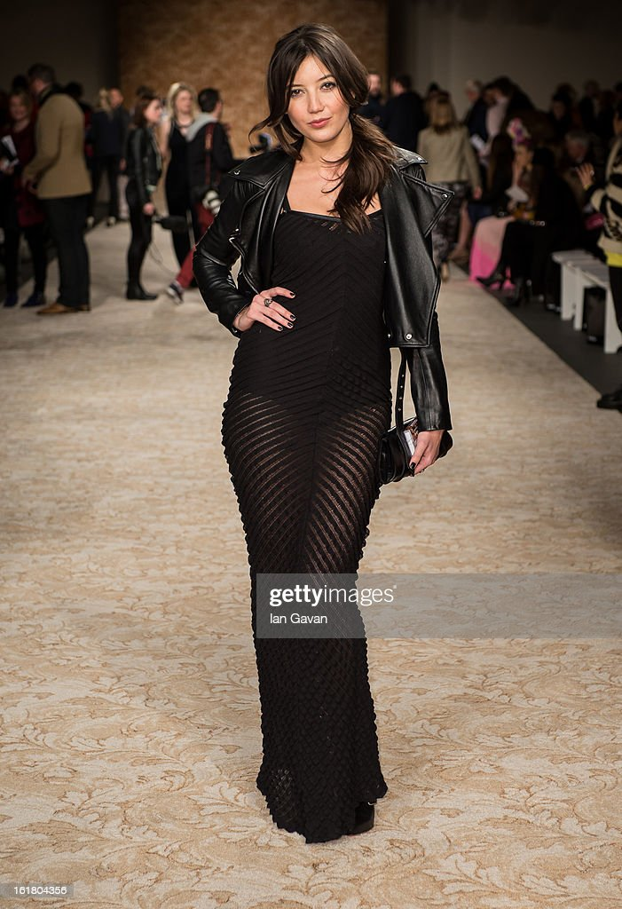 Daisy Lowe attends the House of Holland show during London Fashion Week Fall/Winter 2013/14 at Brewer Street Car Park on February 16, 2013 in London, England.