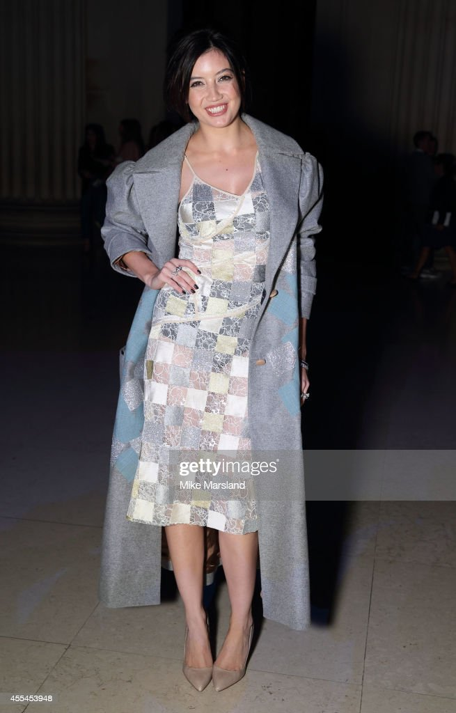 Daisy Lowe attends the Jonathan Saunders show during London Fashion Week Spring Summer 2015 on September 14 2014 in London England