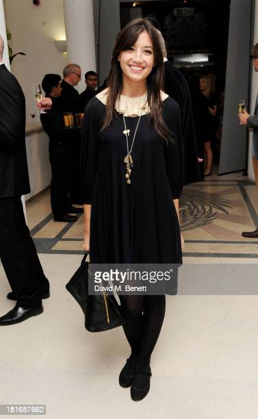 Daisy Lowe attends the Macmillan De'Longhi Art Auction raising money for Macmillan Cancer Support at Royal College of Art on September 23 2013 in...