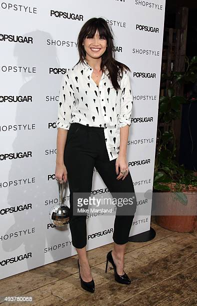 Daisy Lowe attends the POPSUGAR x Shopstyle party on October 22 2015 in London England